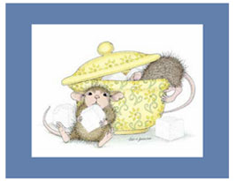 House-Mouse Matted Prints for kitchens