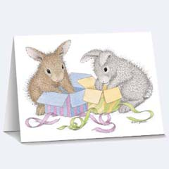 8 Hoppy Birthday Matching Tags - House Mouse HappyHoppers Gift Tags