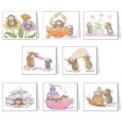 8 Assorted Birthday Cards & 8 Envelopes - House-Mouse Designs® Birthday Cards