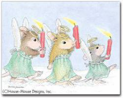 8 Versed Christmas Cards/8 Envs. - House-Mouse Designs® Assorted Packages of 8 Christmas Cards