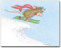 8 Christmas Cards & 8 Envelopes. - House-Mouse Designs® Assorted Package of 8 Christmas Cards