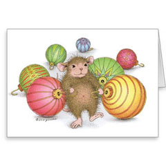 8 Versed Christmas Cards/8 Env - House-Mouse Designs® Assorted Package of 8 Christmas Cards