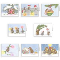 8 diff Blank Christmas Cards