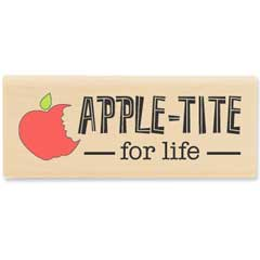 Apple-Tite for life -Sept 2011 - House-Mouse Designs rubber stamps
