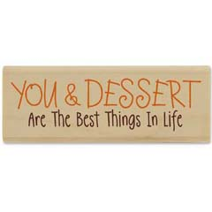 You And Dessert  (October 08) - House Mouse rubber stamp