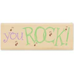 You Rock (June 2010) - House-Mouse Designs rubber stamps