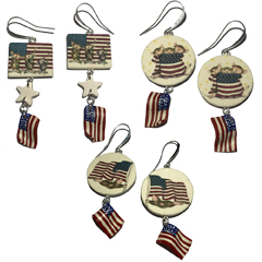 3 Limited Flag Earring Sets - House-Mouse Valentine's Day Earrings