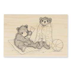 BEACHY BEARS - Select Wood Mounted rubber stamps on sale! Save 25%