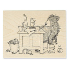 Bearly Working - Select Wood Mounted rubber stamps on sale! Save 25%