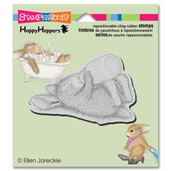 CLING Bottle Bunny - Select cling rubber stamps on sale! Save  20%