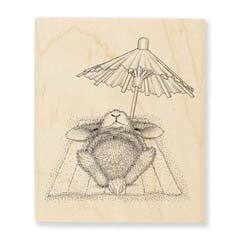 UMBRELLA NAP - Select Wood Mounted rubber stamps on sale! Save 25%