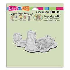 Cling Nap By Candle - Our Newest House-Mouse Designs® Cling rubber stamps