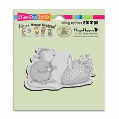 Cling Strawberry Wish Stamp - Our Newest House-Mouse Designs® Cling rubber stamps
