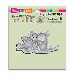 Cling Teddy Friend Stamp - Our Newest House-Mouse Designs® Cling rubber stamps