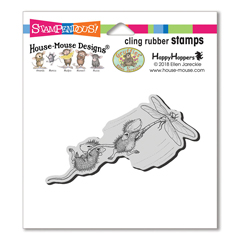 Dragonfly Ride Cling Stamp - Our Newest House-Mouse Designs® Cling rubber stamps
