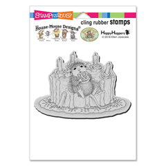 Icing Roses Cling Rubber Stamp - Our Newest House-Mouse Designs® Cling rubber stamps