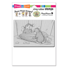 Cling Corn Toothed Rubber Stam - Our Newest House-Mouse Designs® Cling rubber stamps