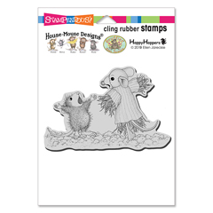 Cling Scarecrow Copier Rubber - Our Newest House-Mouse Designs® Cling rubber stamps