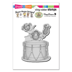 Cling Little Drummers Rubber S - Our Newest House-Mouse Designs® Cling rubber stamps