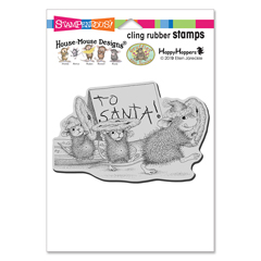 Cling To Santa Rubber Stamp - Our Newest House-Mouse Designs® Cling rubber stamps