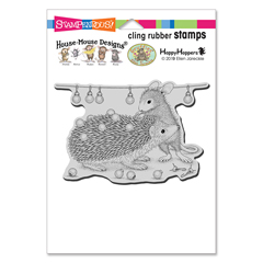 Cling Holiday Hedgehog Rubber - Our Newest House-Mouse Designs® Cling rubber stamps