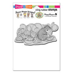 Cling Mint Gifts Rubber Stamp - Our Newest House-Mouse Designs® Cling rubber stamps