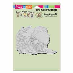 CLING POPPY NAP - Our Newest House-Mouse Designs® Cling rubber stamps