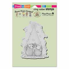 CLING PARTY PEEKING - Our Newest House-Mouse Designs® Cling rubber stamps