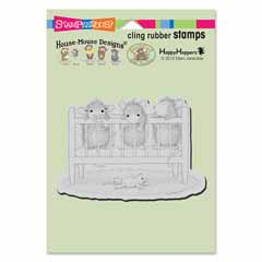 CLING CRIB TIME - Our Newest House-Mouse Designs® Cling rubber stamps