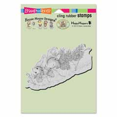 Cling Leaf Sledding - Our Newest House-Mouse Designs® Cling rubber stamps