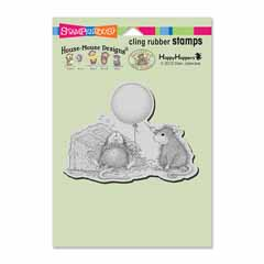 Cling Birthday Mischief Stamp - Our Newest House-Mouse Designs® Cling rubber stamps