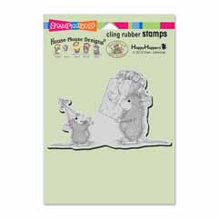 Cling Birthday Gift Stamp - Our Newest House-Mouse Designs® Cling rubber stamps