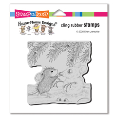 Cling Snowmouse Rubber Stamp - Our Newest House-Mouse Designs® Cling rubber stamps