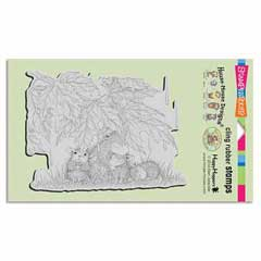 CLING RAINFALL SHELTER - Our Newest House-Mouse Designs® Cling rubber stamps