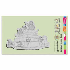 CLING SCHOOL MICE - Our Newest House-Mouse Designs® Cling rubber stamps