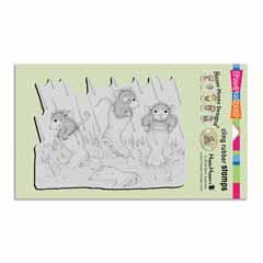 Cling Puddle Jumpers Stamp - Our Newest House-Mouse Designs® Cling rubber stamps