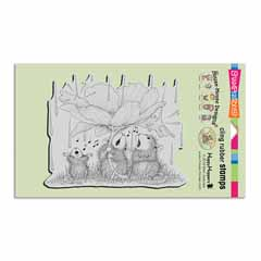Cling Peony Song Stamp - Our Newest House-Mouse Designs® Cling rubber stamps