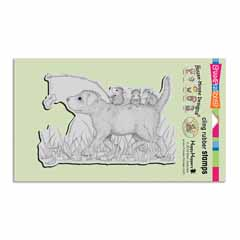 Cling Dog Ride Stamp - Our Newest House-Mouse Designs® Cling rubber stamps