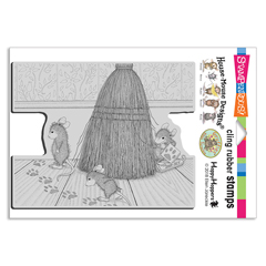 Cat Tracking Cling Stamp - Our Newest House-Mouse Designs® Cling rubber stamps