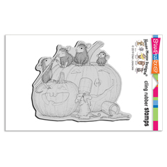 Cling Pumpkin Paint Rubber Sta - Our Newest House-Mouse Designs® Cling rubber stamps