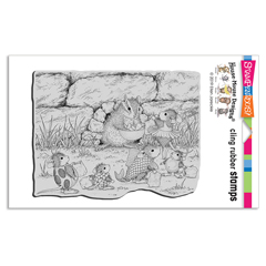 Cling Chipmunk Treats Rubber S - Our Newest House-Mouse Designs® Cling rubber stamps