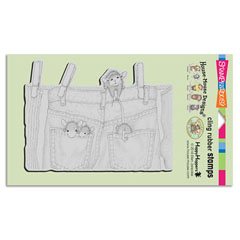 CLING Hanging Jeans - Select cling rubber stamps on sale! Save  20%
