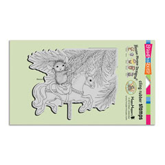 CLING CAROUSEL ORNAMENT - Select cling rubber stamps on sale! Save  20%