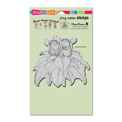 CLING POINSETTIA CANDLE - Select cling rubber stamps on sale! Save  20%