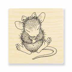 SITTING PRETTY - Our Newest House-Mouse Designs® Wood Mounted rubber stamps