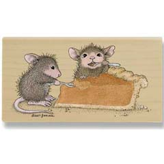 Pumpkin Pie (October 08) - House Mouse rubber stamp