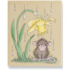 Gentle Rain (March 08) - House Mouse rubber stamp