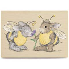 Buzzy Friends - House Mouse HappyHoppers rubber stamps