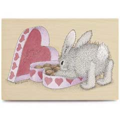 Hoppy Valentine's - House Mouse HappyHoppers rubber stamps