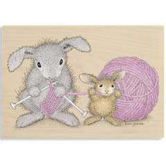 Yarn Tales - House Mouse HappyHoppers rubber stamps
